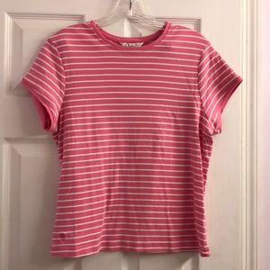 Lilly Pulitzer Pink & White Striped Shirt XL